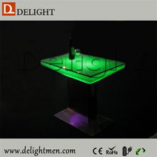 Top sale waterproof illuminated RGB remote control led square dinner table bar table for hotel