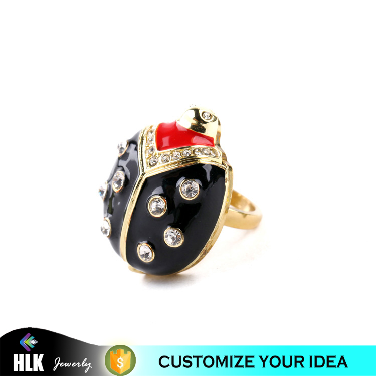 china supplier 3d jewelry cad file ladybug ring