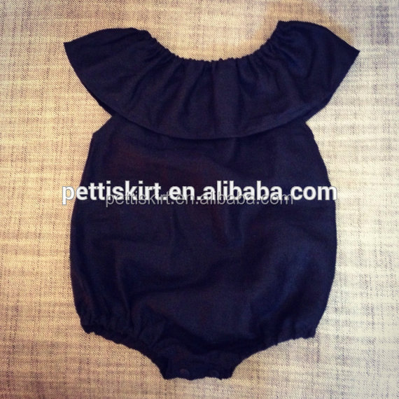 Bulk wholesale soft cotton rompers black infants rompers baby romper