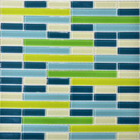 cheap eco-friendly glass mosaic from crystal glass mosaic tile