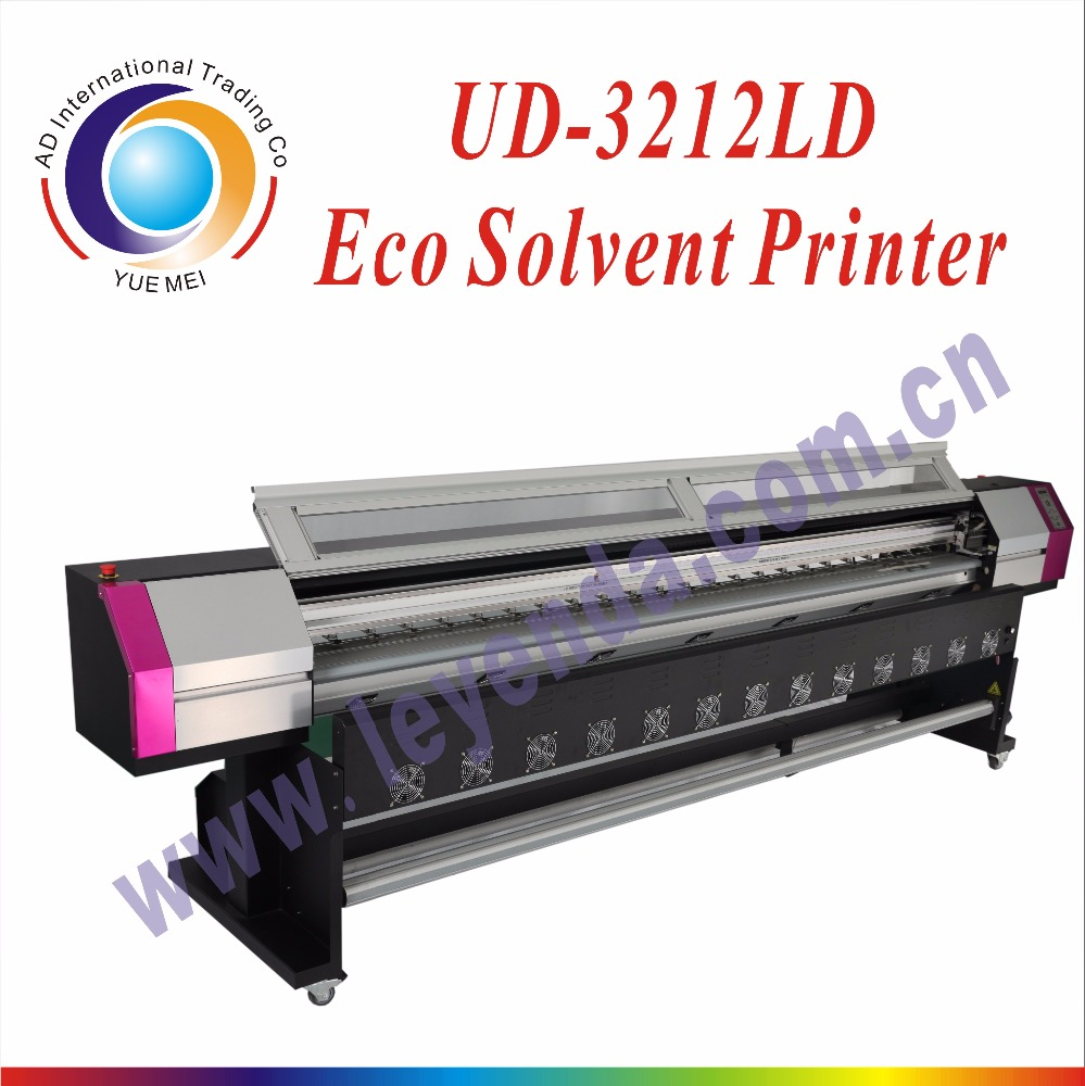 Galaxy printer 3.2m large format eco <strong>solvent</strong> printer UD 3212LD with original 2pcs DX5 printhead