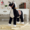 Black riding toy plush rocking horse toy with music