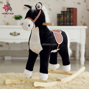 music lovely stuffed plush toys baby rocking horse