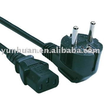 AC Power Cables for European market schuko plug equipment line