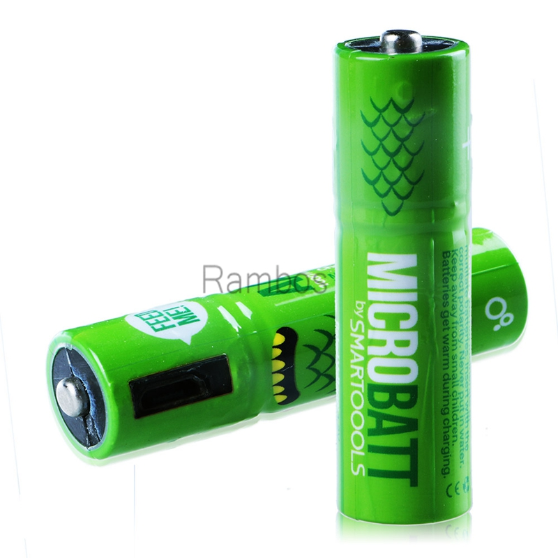 AA Micro USB Battery Pack Rechargeable USB Charge Batteries