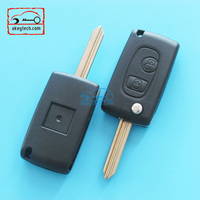 High Quatity Peugeot remote key for peugrot modified remote X key shell Car Key 2 button case