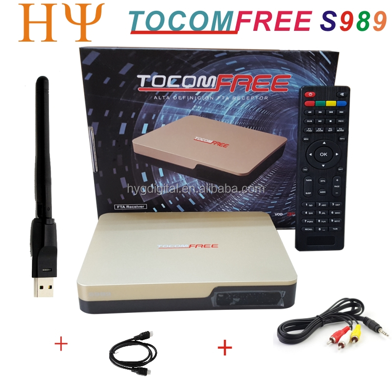 TOCOMFREE S989 Digital Satellite Receiver TV tocomfree s989 with ACM iks sks free for South America