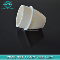 50x40x20mm LxWxH Alumina Ceramic Crucible Boat Sample Holder Tube Muffle Furnace