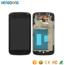 original lcd screen display for LG Google Nexus 4 E960 with frame