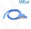 Motherboard 20p to USB3.0 Dual Female cable with panel USB3.0 dual panel mount cable front panel