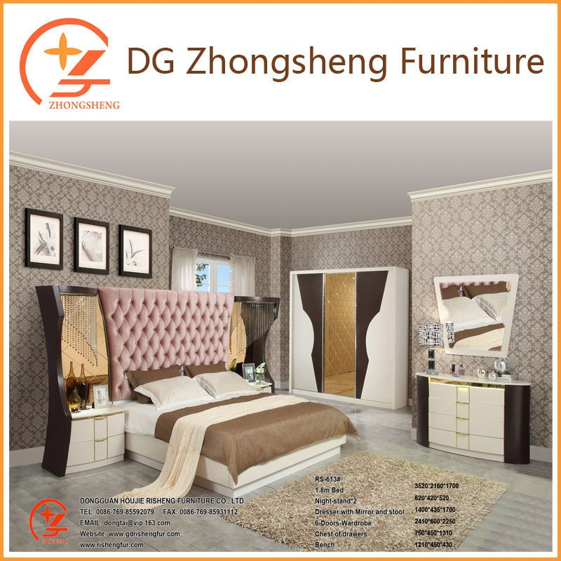 613 China supplier Luxury wooden bedroom furniture in stock