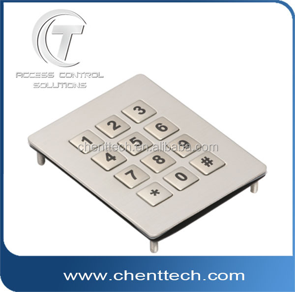A IP68 vandal proof and water resistant metal keyboard for industrial application.