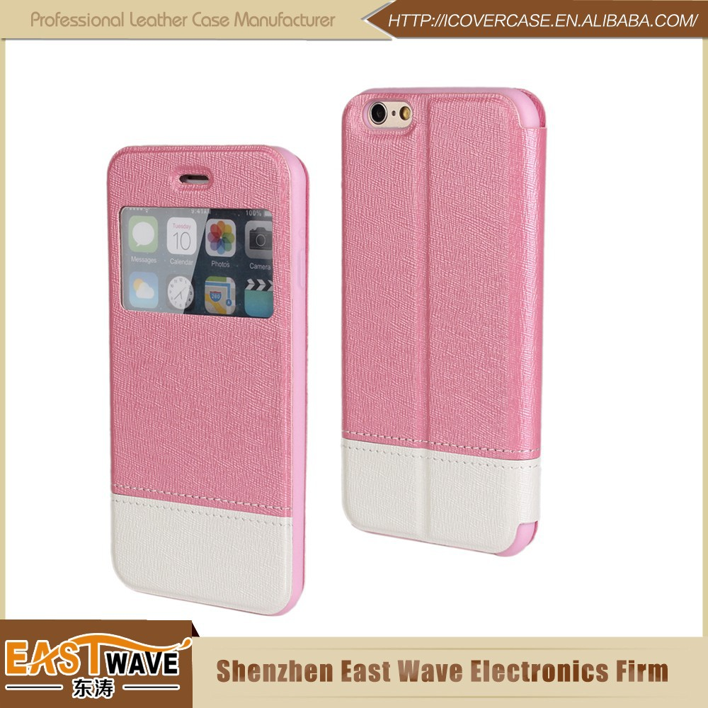 Custom Logo Cell Phone Leather Case For Iphone6