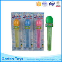 Kids plastic toy colorful microphone bubble blower wands