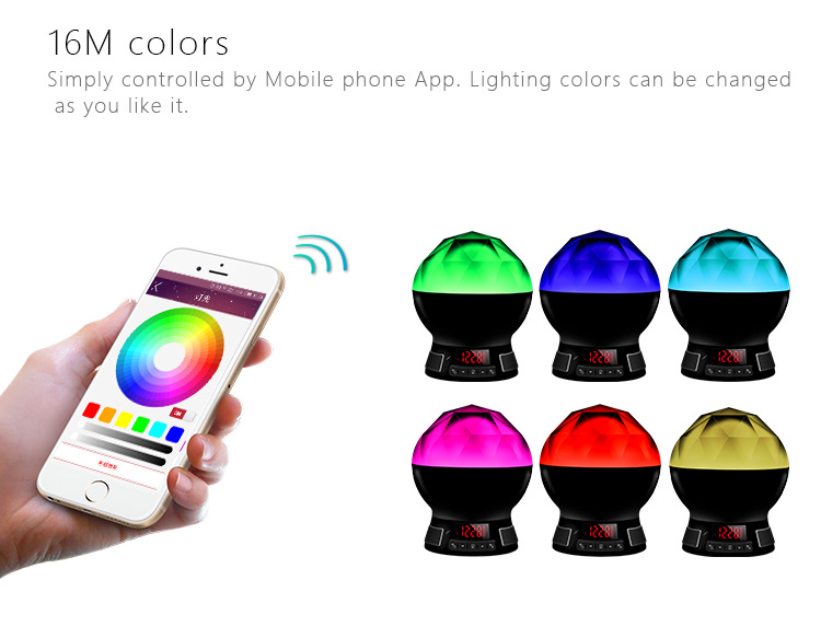 new gadgets 2017 electronics motional led light audio bluetooth speaker with 16M APP colors