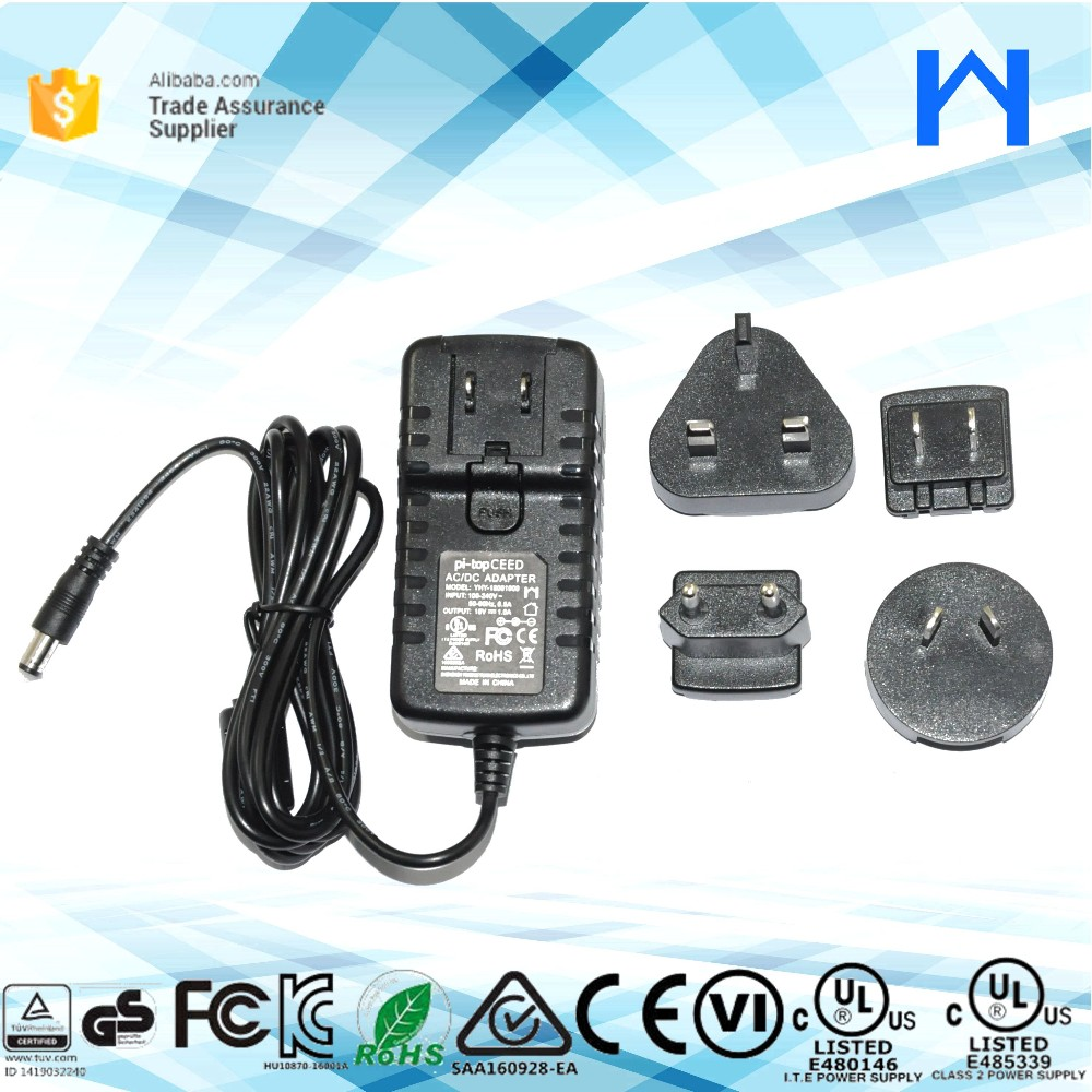 US EU UK AU adapter 18W indoor power supply 18V 1A interchangeable power adapter