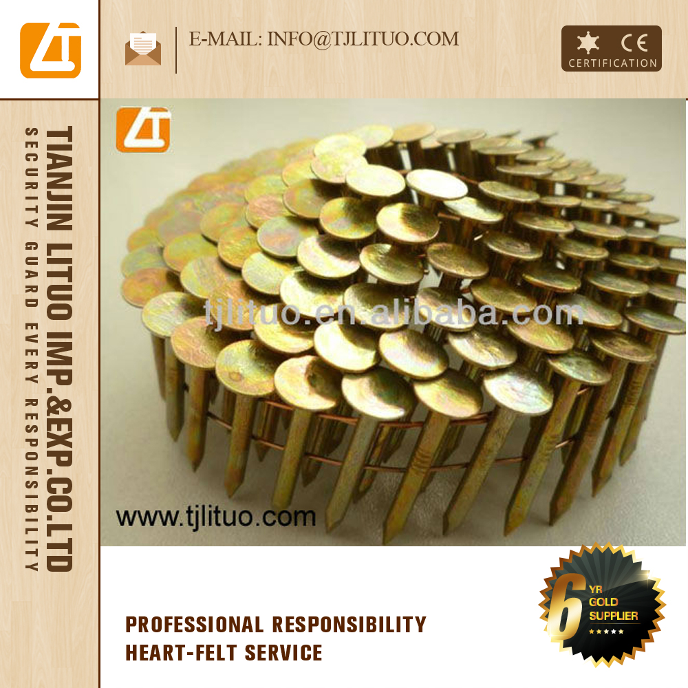 coil nails for pallets price/coil nail gun/roofing coil nails