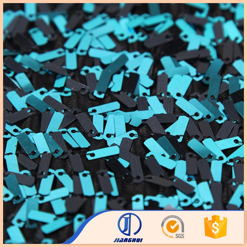 Shaoxing textile polyester knitted embroidery double sided sequin fabric for dress