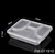 2019 degradable pla takeaway plastic lunch box disposable food containers