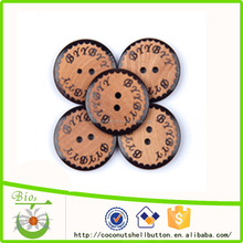 Laser Engraved Custom Wooden Buttons For Jackets