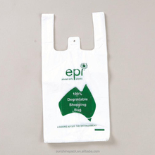 Manufacturers Wholesale PE/LDPE 100% Biodegradable ldpe carrier die cut handle plastic shopping bag with customized logo