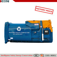 garbage compactor container waste