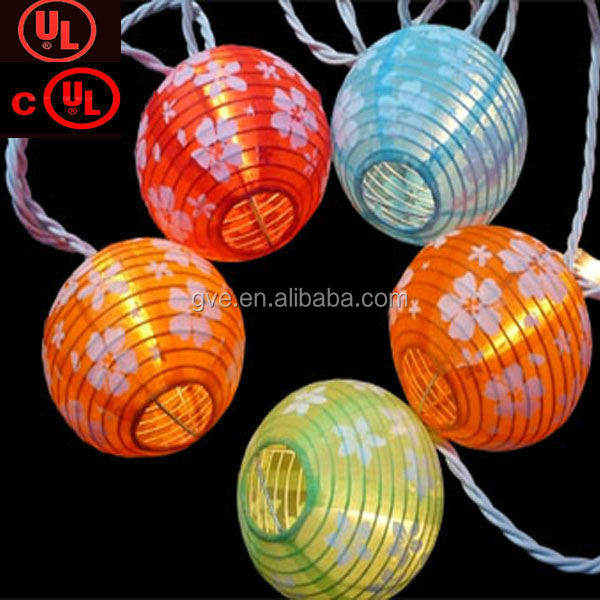 Nice holiday decoratiove led lantern cotton ball string light with UL/CUL/CE certifications