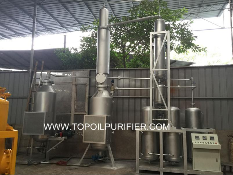 TOP manuacture Dirty black motor oil regeneration plant, waste oil management, engine oil purifier