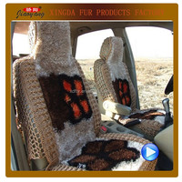 3D Ice silk car seat cover handmade crochet auto seat cover for all season
