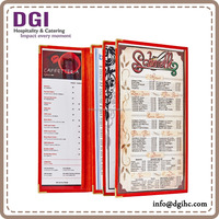 transparent cafe menu cover plastic menu case