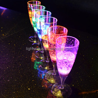 150ml LED light drinking glass led glasses party 6 color changing liquid glow wine cup