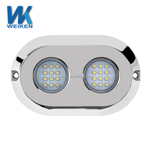 24leds 120w DC12 volt sea water resistant marine accessories surface mounted led underwater boat lamps