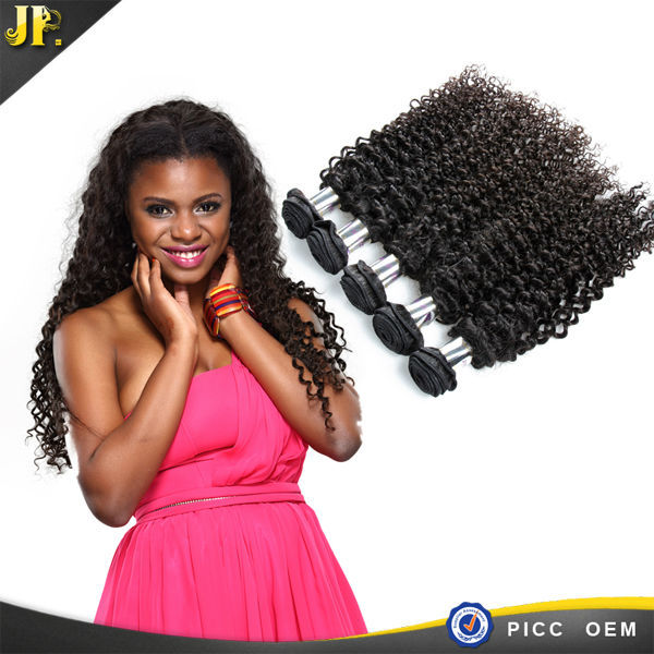2015 JP 100% human hair high quality raw unprocessed Curly hair wholesale braids and weave