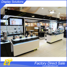 Luxury perfume shop interior design perfume cosmetic kiosk for sale
