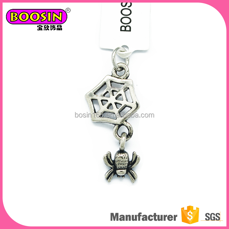 Factory supply magnetic animal spider pendant charms