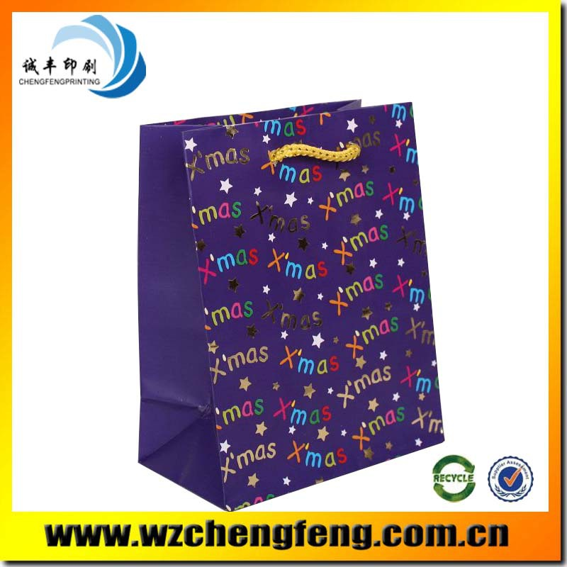 pretty colorful custom festival paper bag for gift package