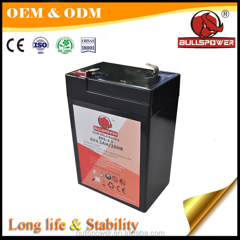 outdoor solar lantern battery 6v4.5ah