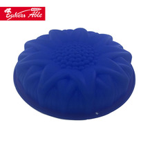Colorful Fashion Durable Sunflower Shaped Silicone Baking Cake Molds