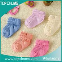 Soft comfortable unique desgin baby colored candy socks