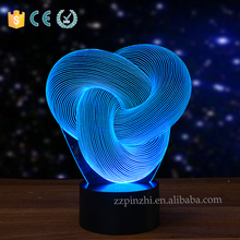 NL87 2016 innovative 3d optical illusion modern bedside lamps