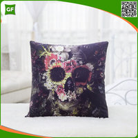 Digital Skull Printed Cushion Covers High Quality New 2016 Home Decorative Pillow Case Customized Pillow Cover