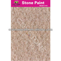 Acrylic coating Stone Finish Water repellent paint for walls