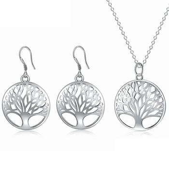 tree of life jewelry set wholesale tree of life necklace earrings custom