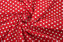 wholesale 100% cotton red and white polka dot fabric