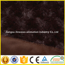 china factory to make faux fur long plush swirl fabric for soft toy