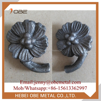 Wrought Iron Decorative Cast Steel Metal Flowers for Crafts