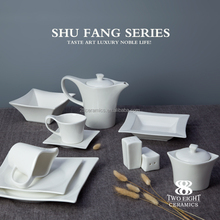 china supplier super white luxury restaurant porcelain ceramic hotel crockery earthenware crockery