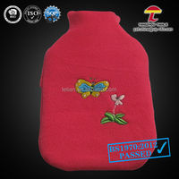 2000ml pvc hot water bottle with AZO wool cover which decorated by nature scene
