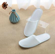 China Supplier Hotel Disposable Amenity White Cotton Waffle <strong>Slipper</strong> close toe comfortable hotel <strong>slipper</strong>