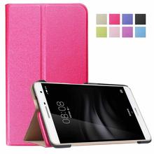 Book leather foldable stand flip cover case for Huawei M2 7' young version